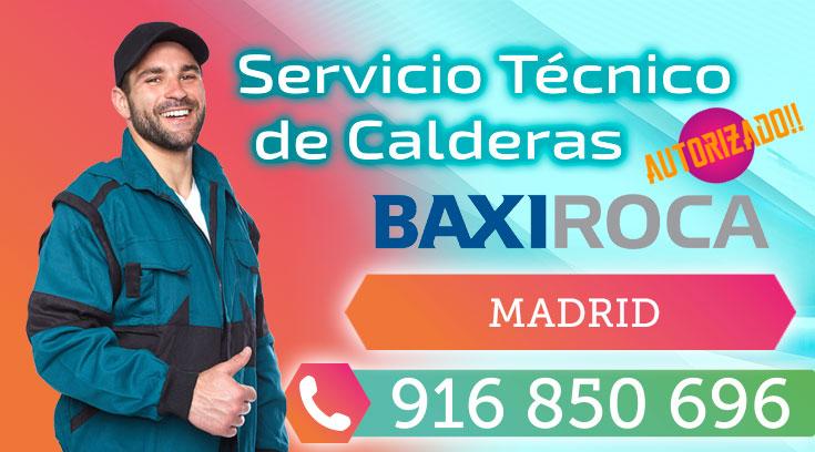 Servicio tecnico Calderas BaxiRoca Madrid
