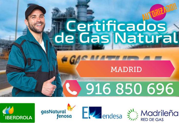Certificados de gas natural en Madrid