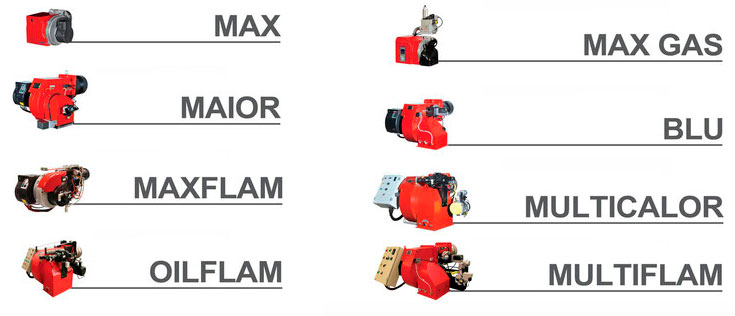 Modelos de quemadores Ecoflam